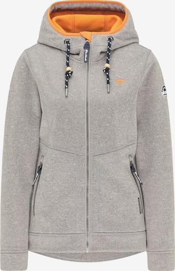 Schmuddelwedda Jacke in graumeliert / orange, Produktansicht