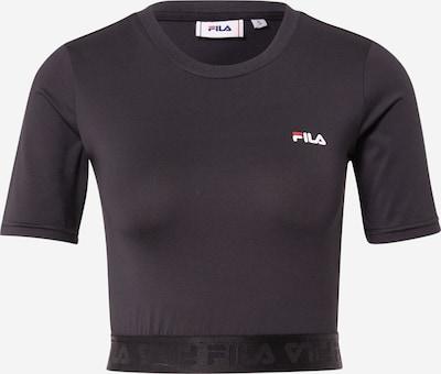 FILA Majica 'CAYLIN' | svetlo rdeča / črna / bela barva: Frontalni pogled
