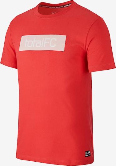 NIKE T-Shirt in hellrot / weiß, Produktansicht