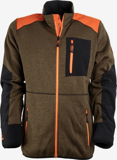 FORSBERG Strickjacke in khaki / orange / schwarz, Produktansicht