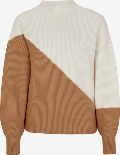 s.Oliver BLACK LABEL Пуловер в камел / бяло, Преглед на продукта