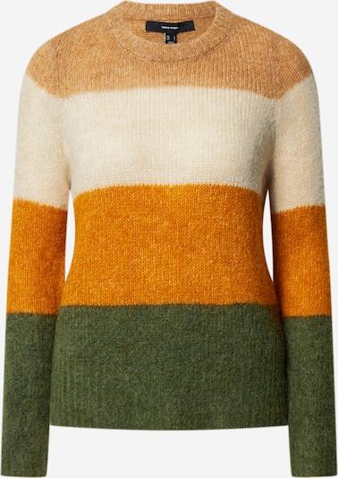 VERO MODA Pullover in beige / braun / grün, Produktansicht