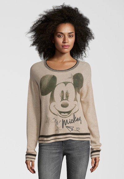 PRINCESS GOES HOLLYWOOD Pullover 'Mickey Retro' in beige, Modelansicht