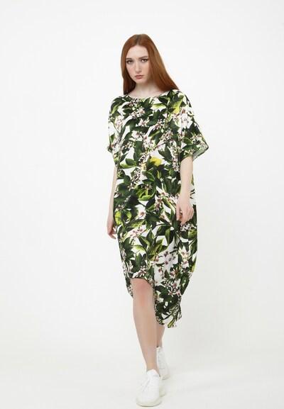 Madam-T Maxikleid 'ASHLEY' in grün / weiß, Modelansicht