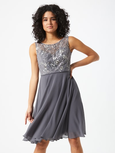STAR NIGHT Koktejlové šaty - šedá / tmavě šedá, Model/ka
