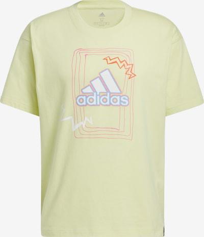 ADIDAS PERFORMANCE Sportshirt in neonblau / neongelb / neonorange / weiß, Produktansicht