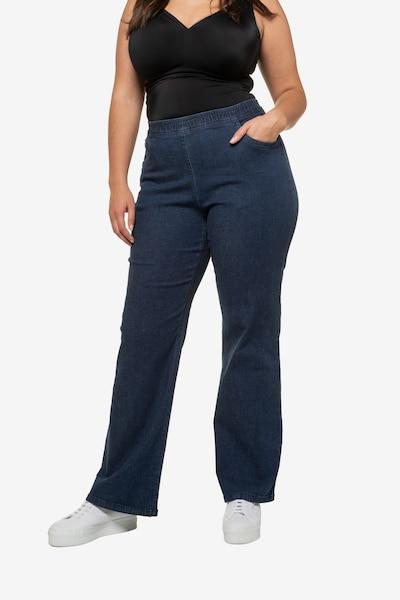 Ulla Popken Jeans 'Mary' in de kleur Donkerblauw, Modelweergave