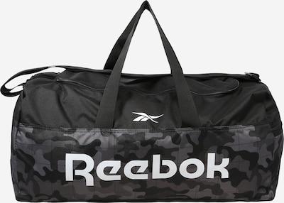 REEBOK Športová taška - antracitová / sivá melírovaná / čierna melírovaná / biela, Produkt