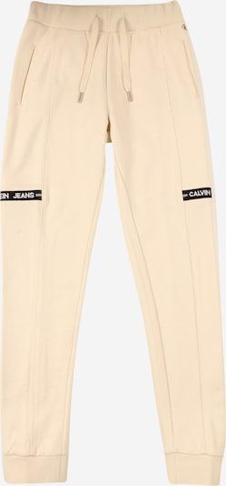 Pantaloni 'INTARSIA' Calvin Klein Jeans di colore beige chiaro / nero / bianco, Visualizzazione prodotti