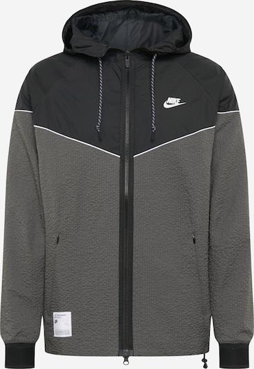 Nike Sportswear Jacke in grau / schwarz, Produktansicht