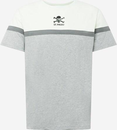 FC St. Pauli T-Shirt in stone / graumeliert / schwarz / weiß, Produktansicht