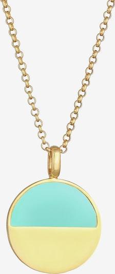 ELLI Chaîne en turquoise / or, Vue avec produit