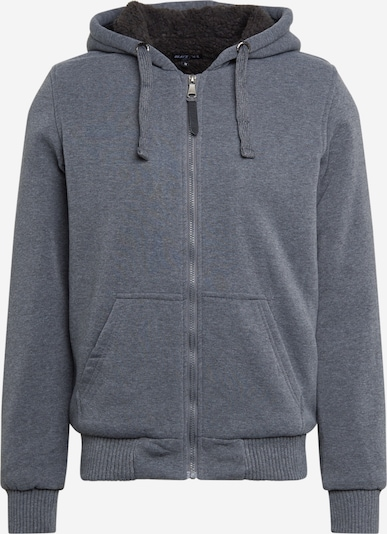 BRAVE SOUL Sweat jacket 'ZONEC' in grey, Item view