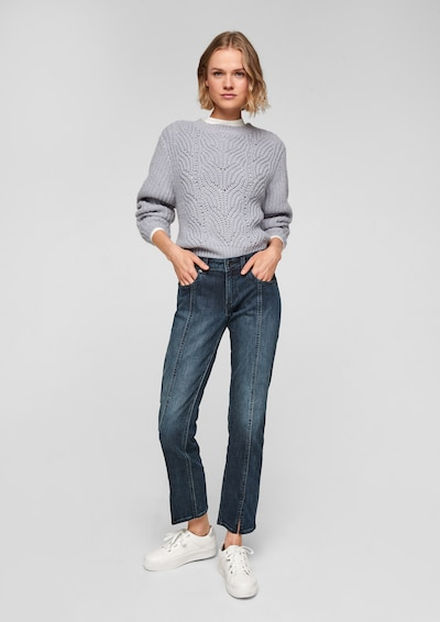 Q/S by s.Oliver Jeans in de kleur Blauw, Modelweergave