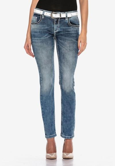 CIPO & BAXX Jeans 'LUCKY WINGS' in de kleur Blauw, Modelweergave