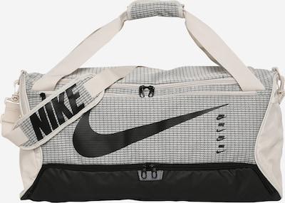 Sportinis krepšys 'Brasilia 9.0' iš NIKE , spalva - pilka / juoda / vilnos balta, Prekių apžvalga