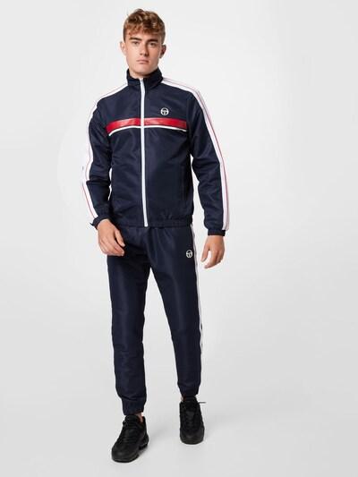 Sergio Tacchini Trainingsanzug 'AGAVE' in dunkelblau / rot / weiß: Frontalansicht