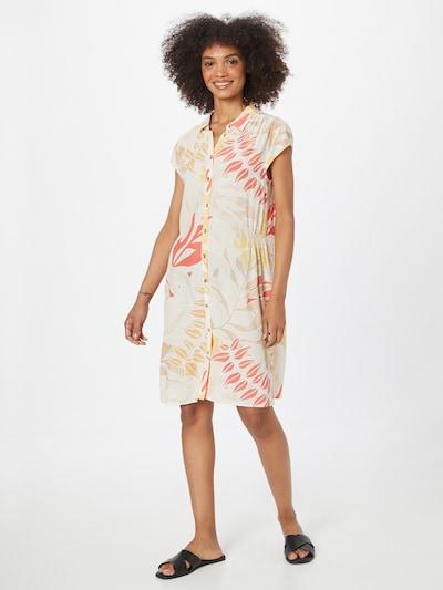 COMMA Blusenkleid in hellbeige / gelb / rot / weiß, Modelansicht