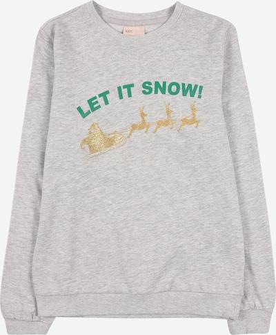 KIDS ONLY Sweatshirt 'CHRISTMAS' in de kleur Goud / Grijs gemêleerd / Groen, Productweergave