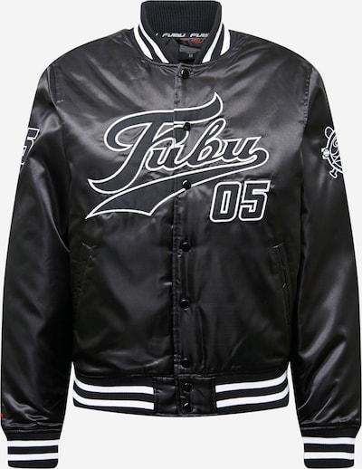 FUBU Prehodna jakna 'Varsity' | črna / bela barva, Prikaz izdelka