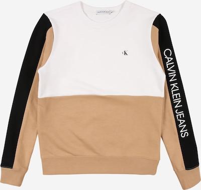 Calvin Klein Jeans Langarmshirt in sand / schwarz / weiß, Produktansicht