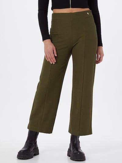 MOS MOSH Pantalon 'Kristi' en vert foncé, Vue avec modèle