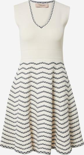 Twinset Sukienka z dzianiny w kolorze granatowy / białym, Podgląd produktu