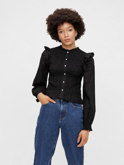 PIECES Blouse 'Vinni' in de kleur Zwart, Modelweergave