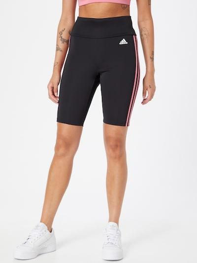 Pantaloni sport ADIDAS PERFORMANCE pe roz / negru / alb, Vizualizare model