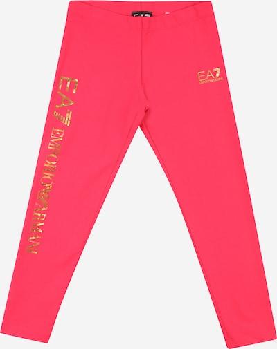 Pantaloni EA7 Emporio Armani pe auriu / roz, Vizualizare produs
