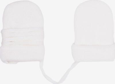 MAXIMO Gants 'MERLE' en blanc, Vue avec produit