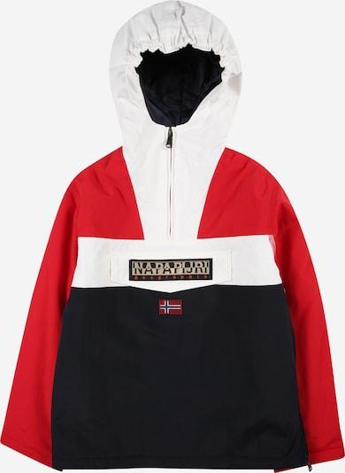 NAPAPIJRI Jacke 'RAINFOREST' in dunkelblau / rot / weiß, Produktansicht