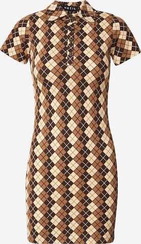 Motel Shirt dress 'Jeeves' in Brown