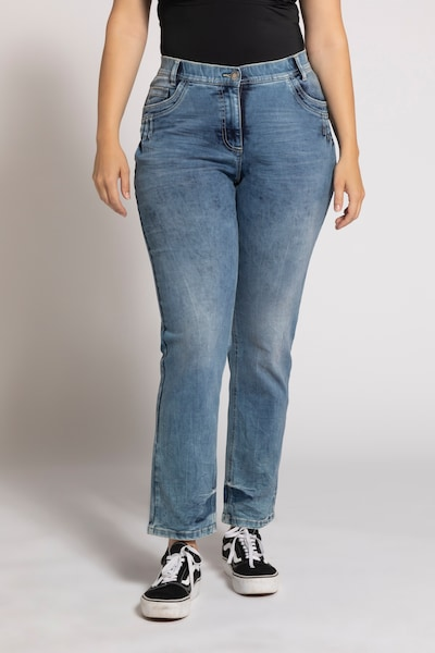 Ulla Popken Damen Jeans in blue denim, Modelansicht