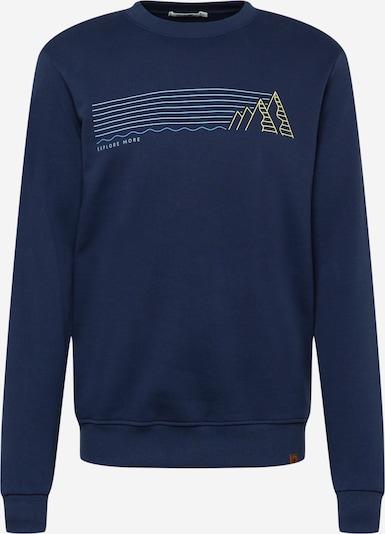 GREENBOMB Sweatshirt 'Nature Explore - Wild' in navy / hellblau / gelb, Produktansicht