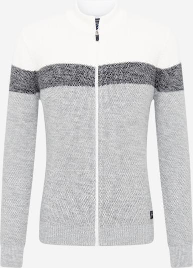 Key Largo Gebreid vest in de kleur Grijs / Donkergrijs / Offwhite, Productweergave