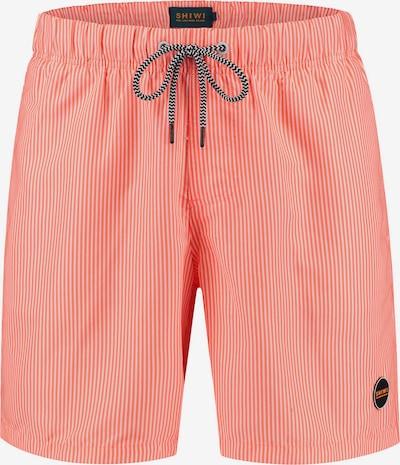 Shiwi Shorts de bain en corail / blanc, Vue avec produit