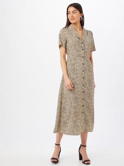 Missguided Košeľové šaty - svetlohnedá / čierna, Model/-ka