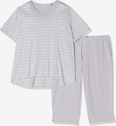 SCHIESSER Pyjama in grau / weiß, Produktansicht