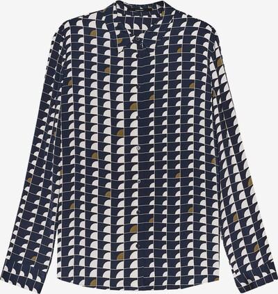 Someday Bluse in nachtblau / braun / weiß, Produktansicht