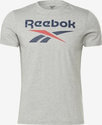 REEBOK Shirt in dunkelblau / graumeliert / rot, Produktansicht