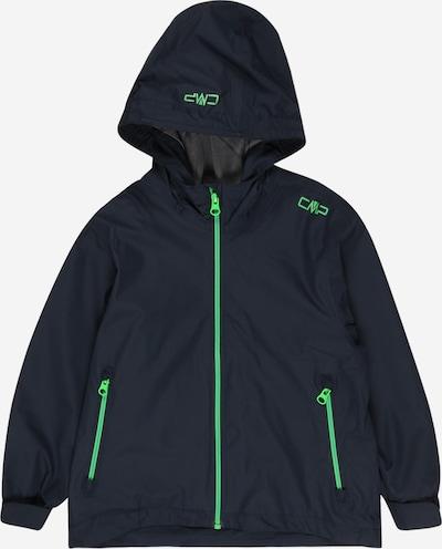CMP Outdoorjas in de kleur Donkerblauw / Neongroen, Productweergave