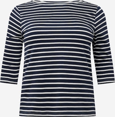 Tricou 'FANDARD' Selected Femme Curve pe albastru noapte / alb, Vizualizare produs