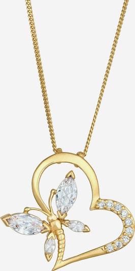 ELLI Halskette Herz, Schmetterling in gold, Produktansicht