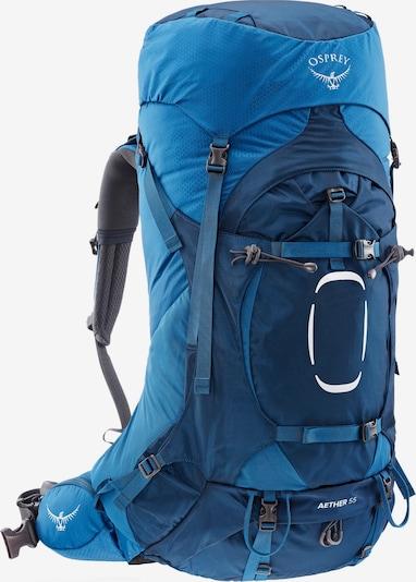 Osprey Sportrucksack 'Aether 55' in blau / navy / grau, Produktansicht