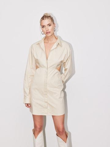 LeGer by Lena Gercke Košeľové šaty 'Evita' - Béžová