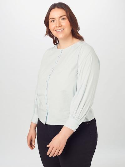 PIECES (Curve) Bluza 'Geraldine'   svetlo modra barva: Frontalni pogled