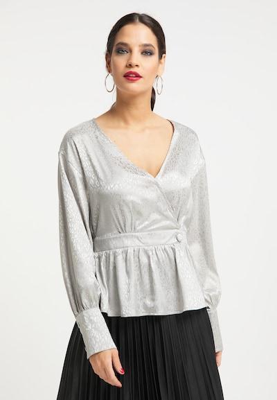faina Blouse in de kleur Zilver, Modelweergave