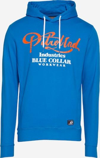 Petrol Industries Sweatshirt in de kleur Blauw / Donkeroranje / Wit, Productweergave