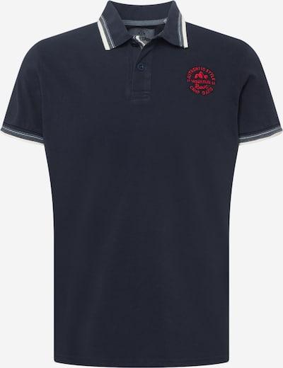 CAMP DAVID Poloshirt in navy / feuerrot / weiß, Produktansicht